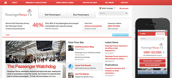 Transport focus responsive web design