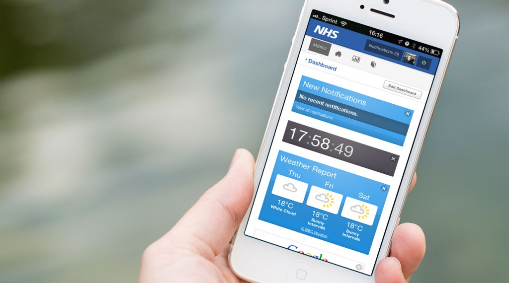 nhs digital products applications platforms design